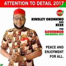 Singer Kcee Declares His Intention To Run For Governor Of Anambara State; Shares Campaign Photo
